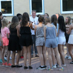 Schüler und Lehrer hatten gemeinsam viel Spaß beim Tanzen.